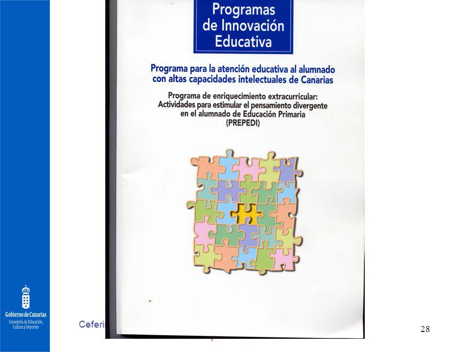 Ceferino ArtilesPrimeras Jornadas Nacionales sobre escuela y superdotación.Barcelona 2006 28