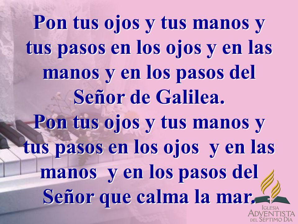 Pon tus ojos y tus manos y tus pasos en los ojos y en las manos y en los pasos del Señor de Galilea.
