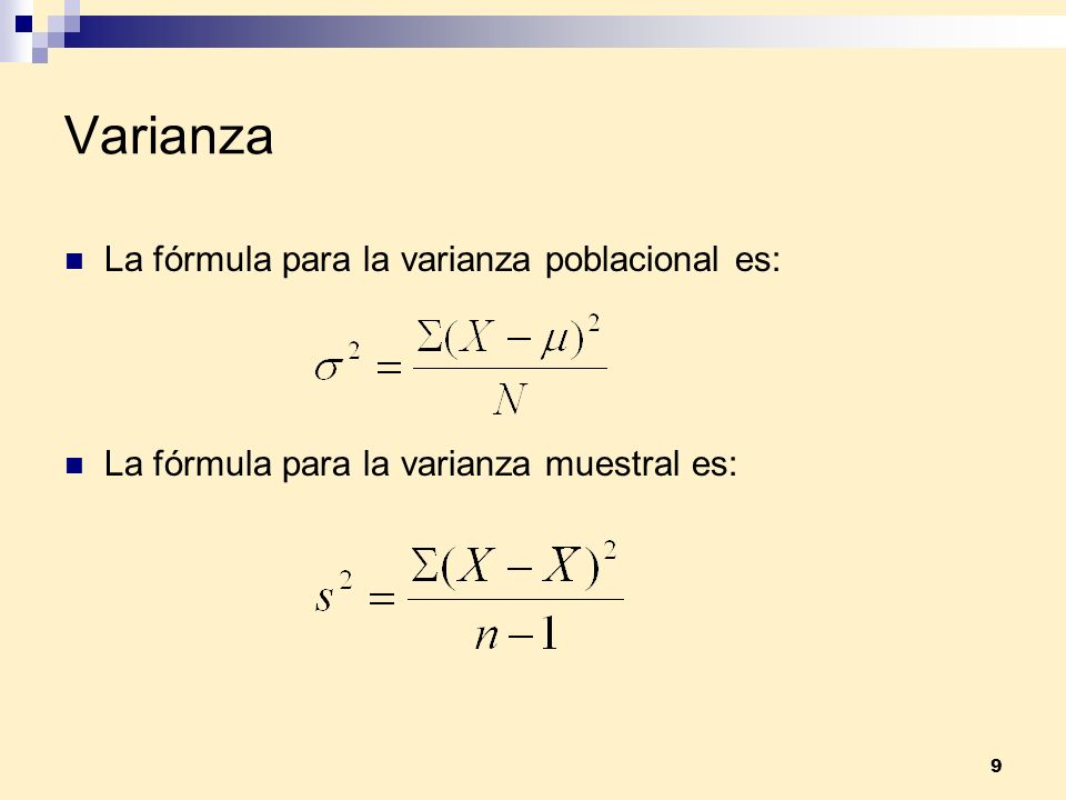10 Ejemplo 2 Las edades de la familia González son: 2, 18, 34, 42 ¿Cuál es la varianza poblacional?