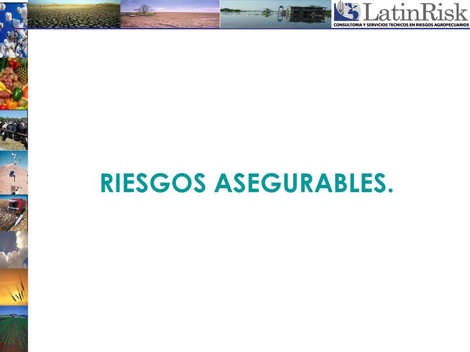 RIESGOS ASEGURABLES.