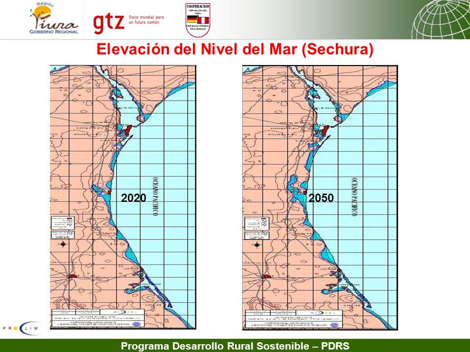 Programa Desarrollo Rural Sostenible – PDRS Elevación del Nivel del Mar (Sechura) 2020 2050