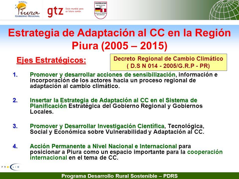 Programa Desarrollo Rural Sostenible – PDRS 1.Promover y desarrollar acciones de sensibilización 1.Promover y desarrollar acciones de sensibilización,