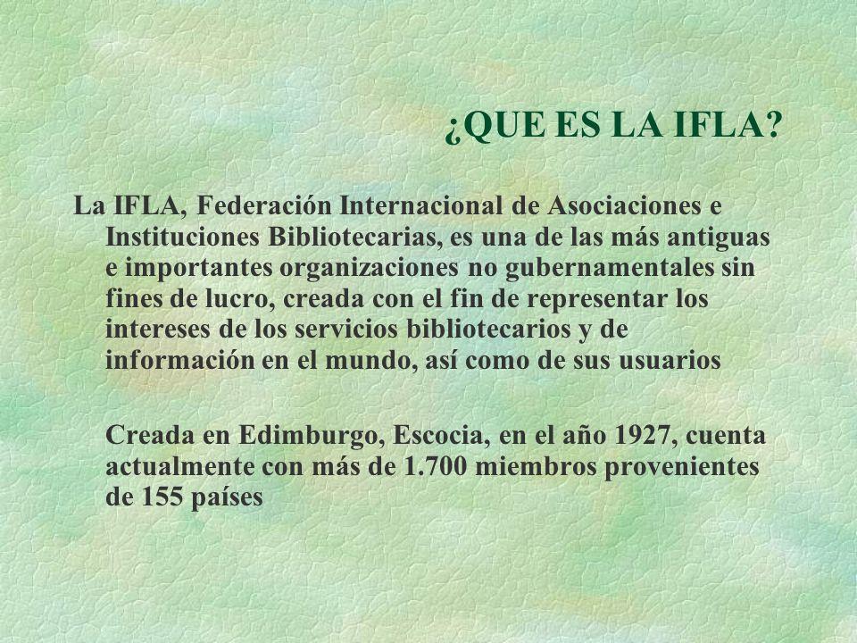 ¿QUE ES LA IFLA.