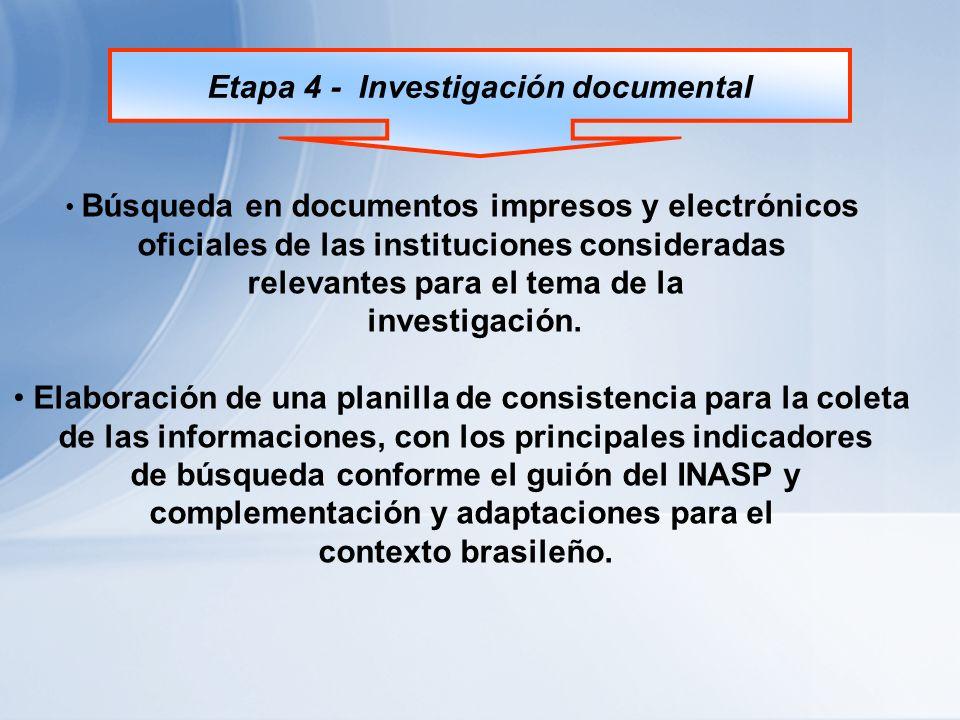Etapa 5 - Desarrollo de Survey Realización de survey en las bibliotecas públicas brasileñas, representantes de los diferentes estados e regiones del contexto nacional.