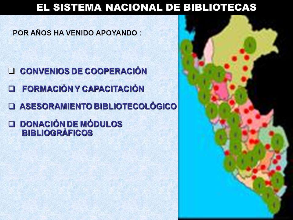 AGRADECIMIENTO ESPECIAL A las personas cuyos sueño fue hacer del Sistema Nacional de Bibliotecas en el Perú una realidad: - Lic.