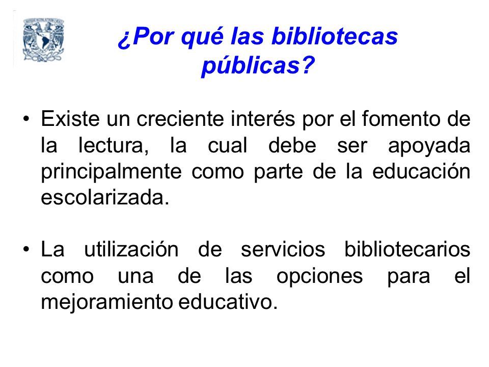 ¿Por qué las bibliotecas públicas.