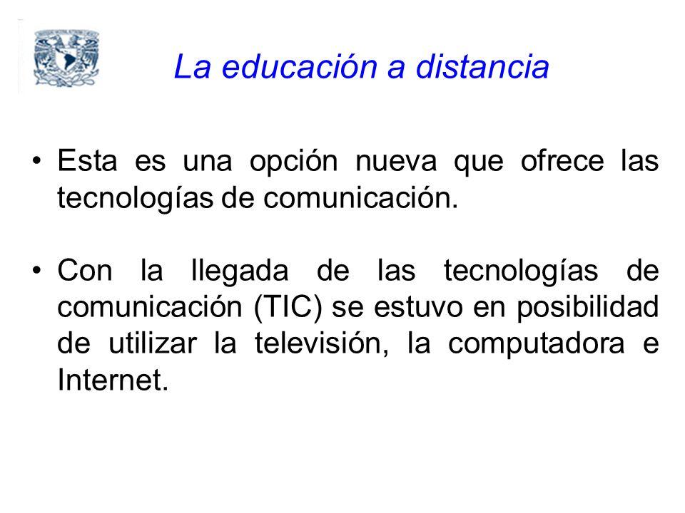 Esta es una opción nueva que ofrece las tecnologías de comunicación.