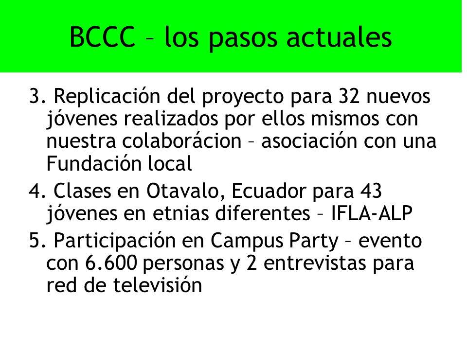 BCCC – los pasos actuales 3.