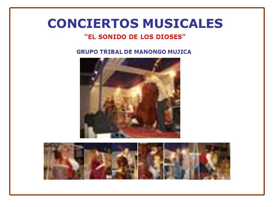 CONCIERTOS MUSICALES EL SONIDO DE LOS DIOSES GRUPO TRIBAL DE MANONGO MUJICA