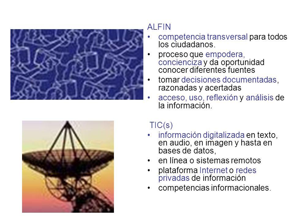 ALFIN competencia transversal para todos los ciudadanos.