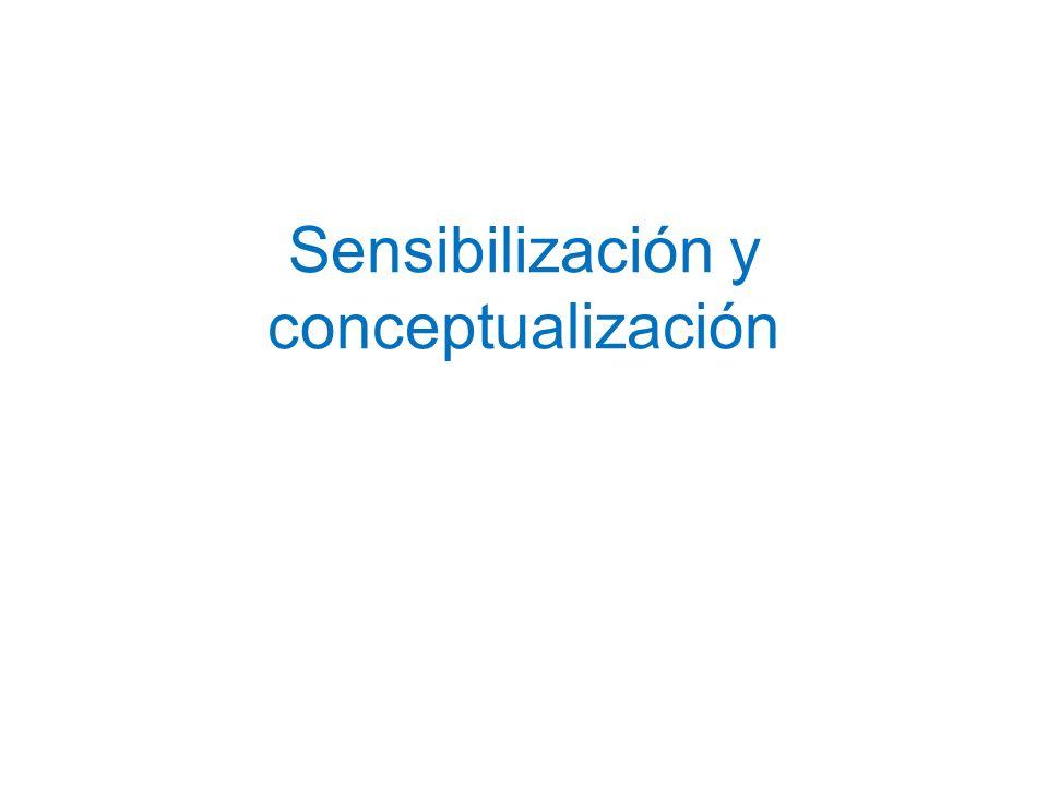 Sensibilización y conceptualización