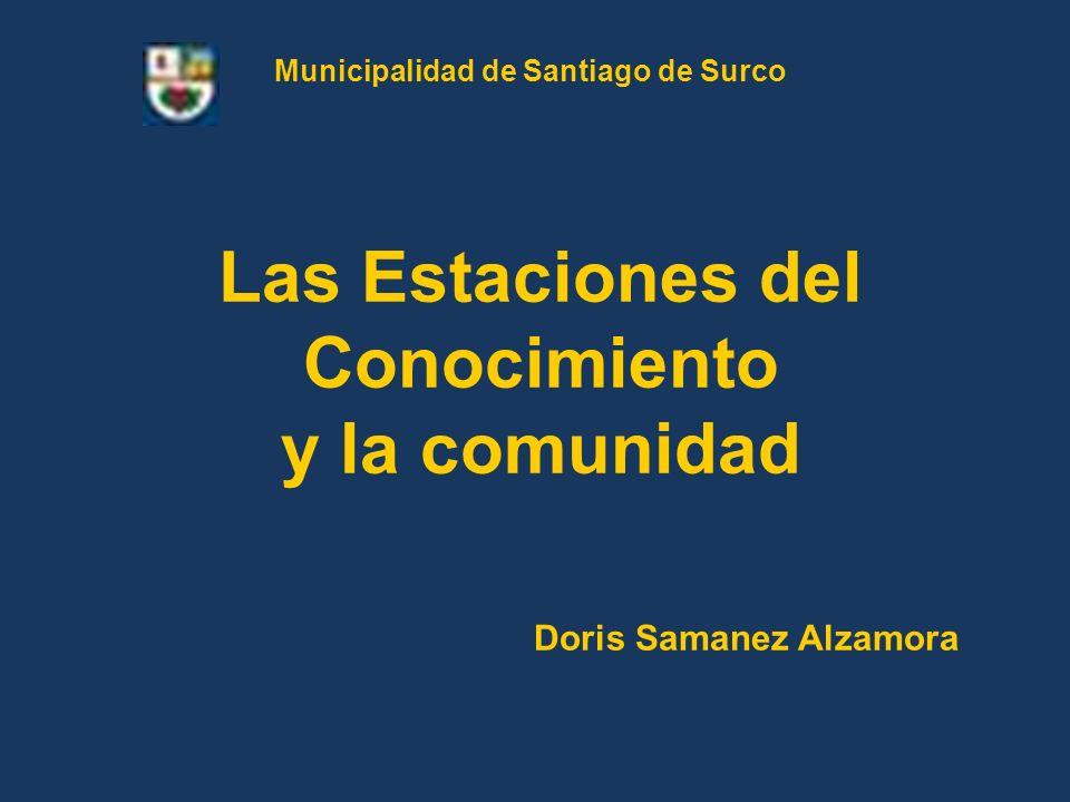 Las Estaciones del Conocimiento y la comunidad Doris Samanez Alzamora Municipalidad de Santiago de Surco