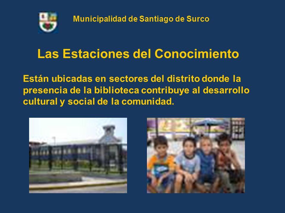 Están ubicadas en sectores del distrito donde la presencia de la biblioteca contribuye al desarrollo cultural y social de la comunidad. Las Estaciones