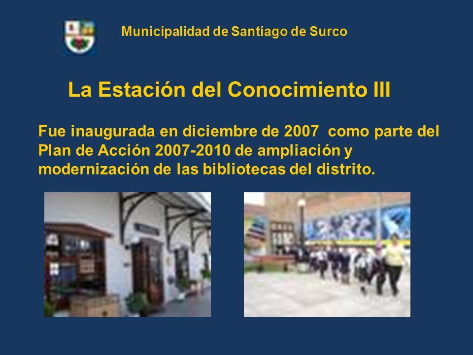 Fue inaugurada en diciembre de 2007 como parte del Plan de Acción 2007-2010 de ampliación y modernización de las bibliotecas del distrito. La Estación