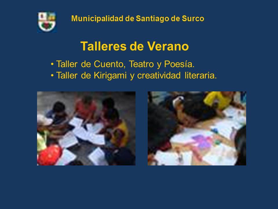 Taller de Cuento, Teatro y Poesía. Taller de Kirigami y creatividad literaria. Talleres de Verano Municipalidad de Santiago de Surco