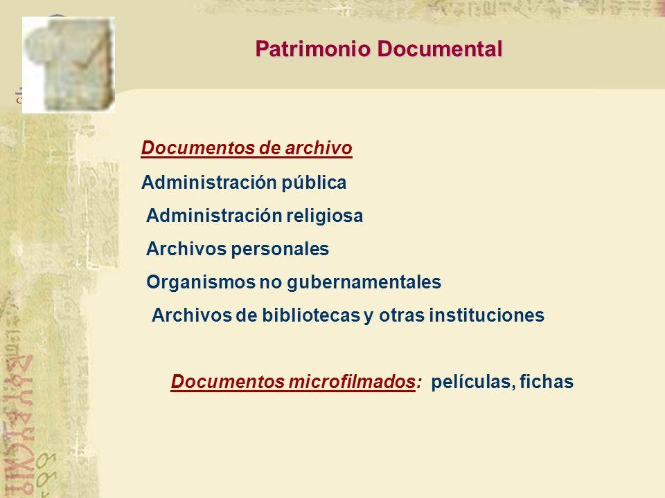 Conformado por: Documentos manuscritos Prehispánicos Coloniales, modernos y contemporáneos · Documentos impresos Antiguos: siglo XV a 1830 Siglo XIX: