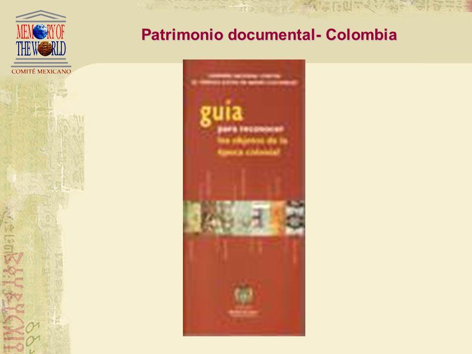 Patrimonio Documental - Colombia