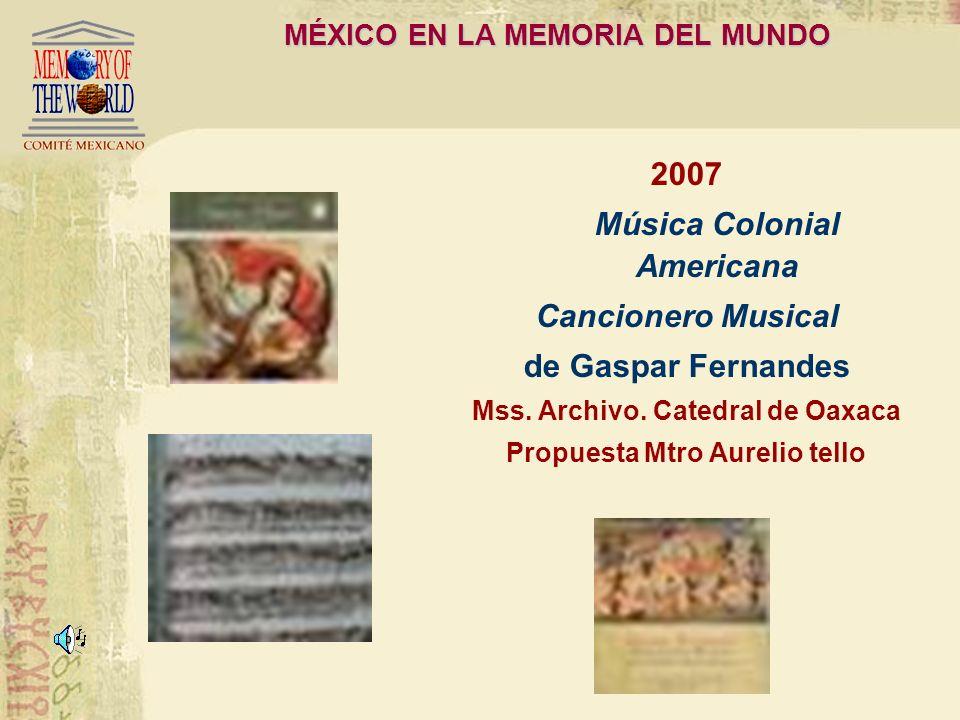 Perú en la Memoria del Mundo 2007 Música Colonial Americana Púrpura de la Rosa Opera. Letra: Pedro Calderón de la Barca. Música:Tomás de Torrejón y Ve