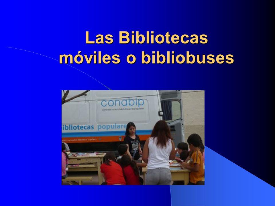 Las Bibliotecas móviles o bibliobuses