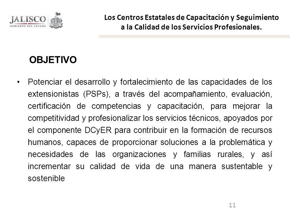 11 Potenciar el desarrollo y fortalecimiento de las capacidades de los extensionistas (PSPs), a través del acompañamiento, evaluación, certificación d