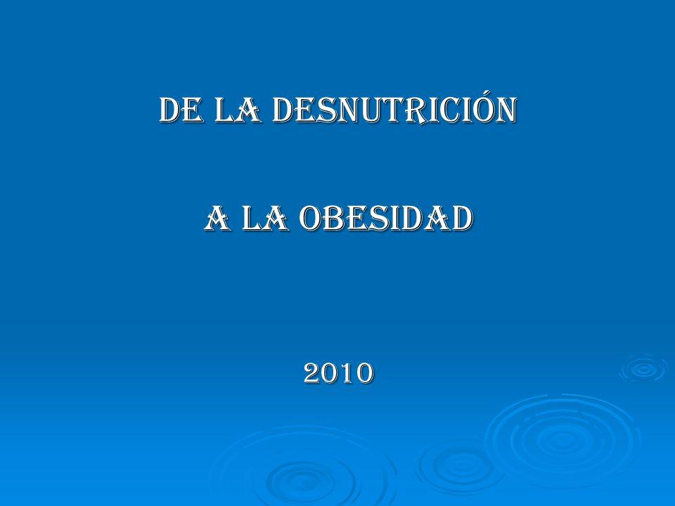 PREVALENCIA DE OBESIDAD EN CHILE En distintas edades