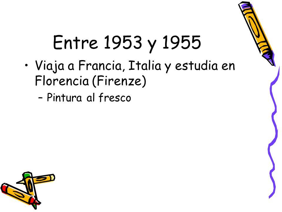 Regresa a Colombia en 1955 Permanece (Remains) un año en Bogotá –No tiene éxito con sus obras