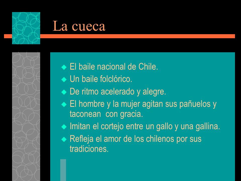 La cueca El baile nacional de Chile. Un baile folclórico.