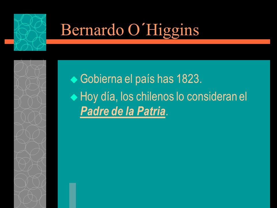 Bernardo O´Higgins Gobierna el país has 1823.