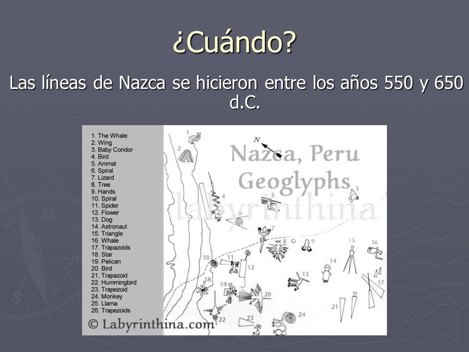 ¿Para qué.No se sabé por qué la gente de la pampa de Nazca crearon las líneas.