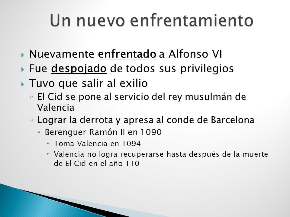 Emprende campañas guerreras por la penísula Lograr hacer que los reyes musulmanes de Albarracín y Valencia le paguen tributo a Castilla Conquistan vas