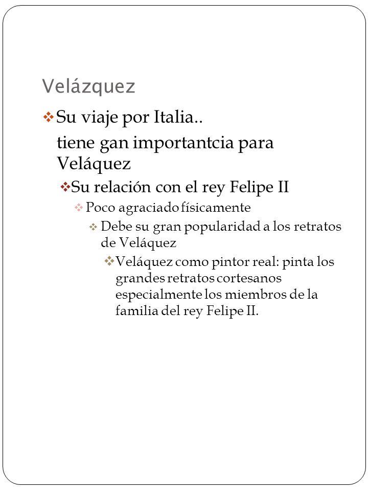 Velázquez tiene que irse de Venecia Para en Nápoles antes de regresar a España Visita al pintor tenebrista español que vive en Italia: Ribera Ribera: