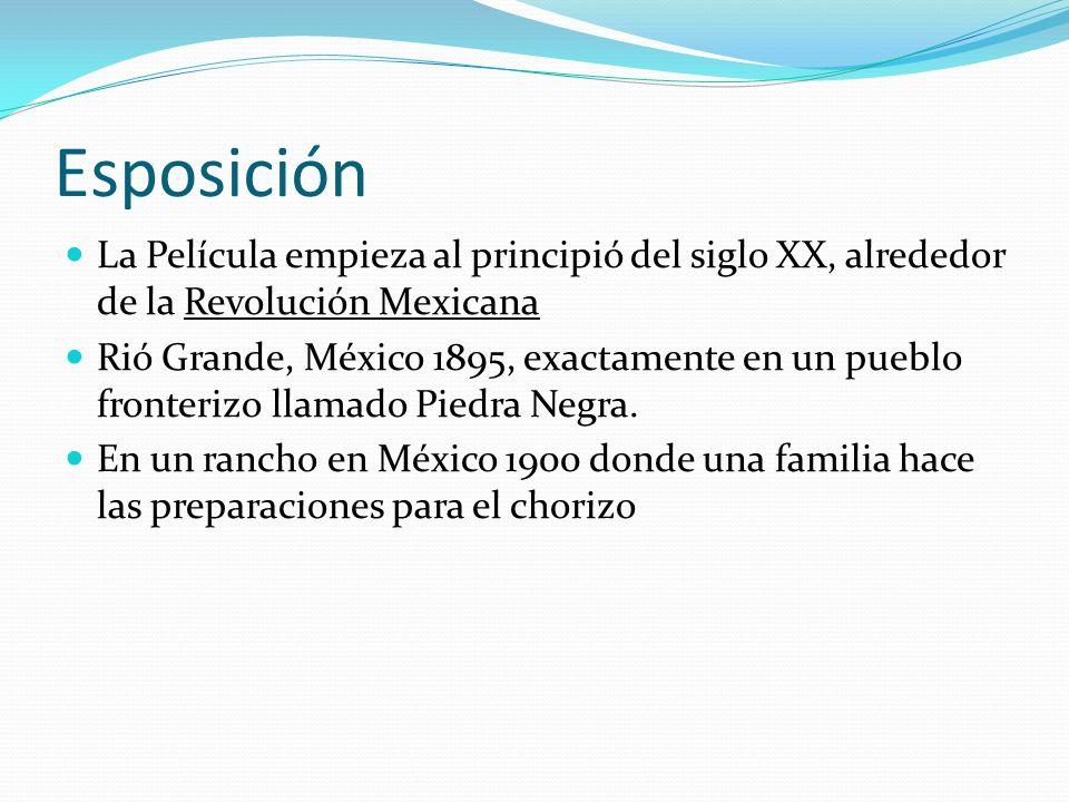 Personajes Mamá Elena (viuda) Hijas de Mamá Elena: Gertrudis Rosaura Tita (15 años) Nacha la cocinera y ama de llaves Muy querida por las hijas Chencha la sirvienta Muy querida por las hijas