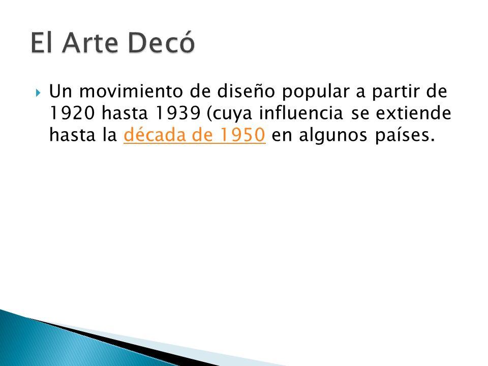 Qué es el Art Decó Posted by Aide Cora DoraAide Cora Dora September 29, 2008 Bienvenidos una vez más al blog decoracioninteriores.net.
