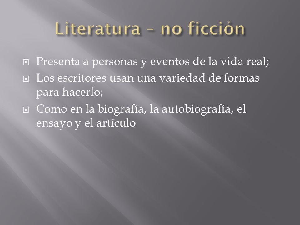 Biografiías, autobiografías ensayos y artículos