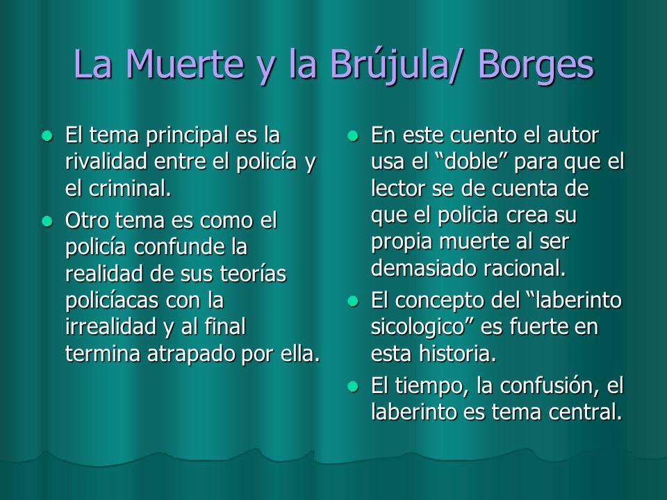 La Muerte y la Brújula/ Borges El tema principal es la rivalidad entre el policía y el criminal. El tema principal es la rivalidad entre el policía y