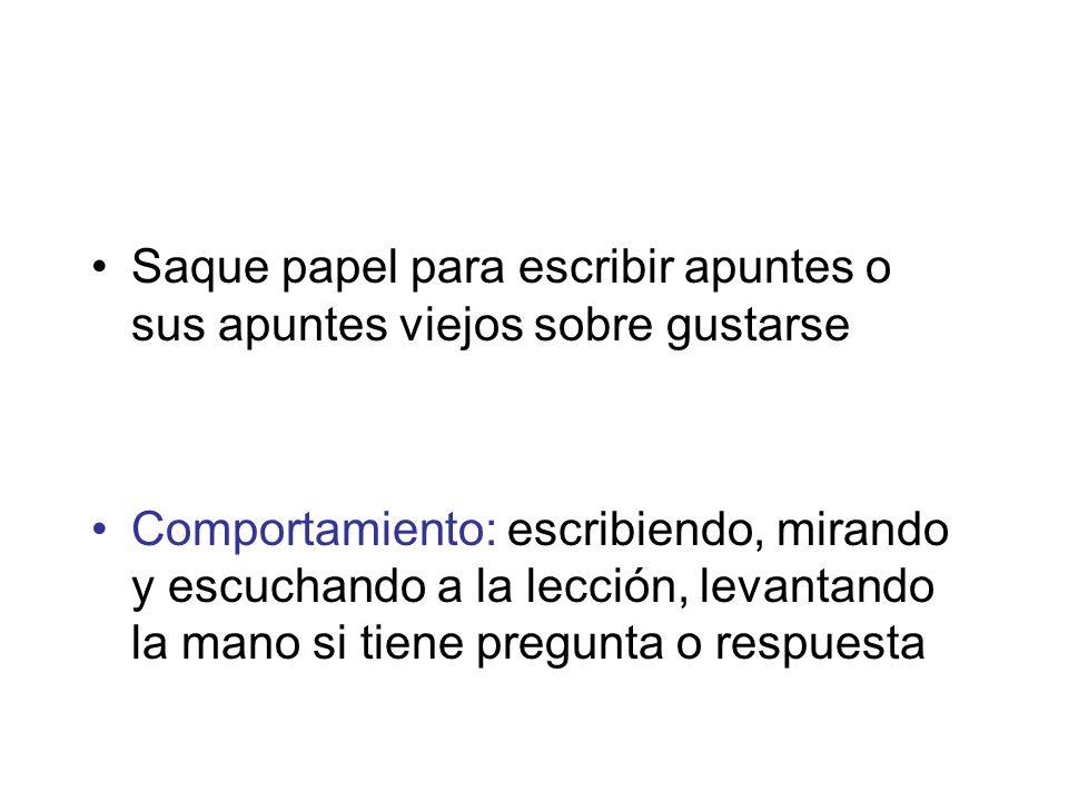 Gustarse y verbos similares 1.¿A quien le indican los pronombres de complemento indirecto (gustarse).