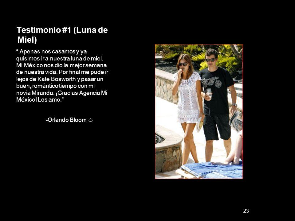 Testimonio #1 (Luna de Miel) Apenas nos casamos y ya quisimos ir a nuestra luna de miel. Mi México nos dio la mejor semana de nuestra vida. Por final