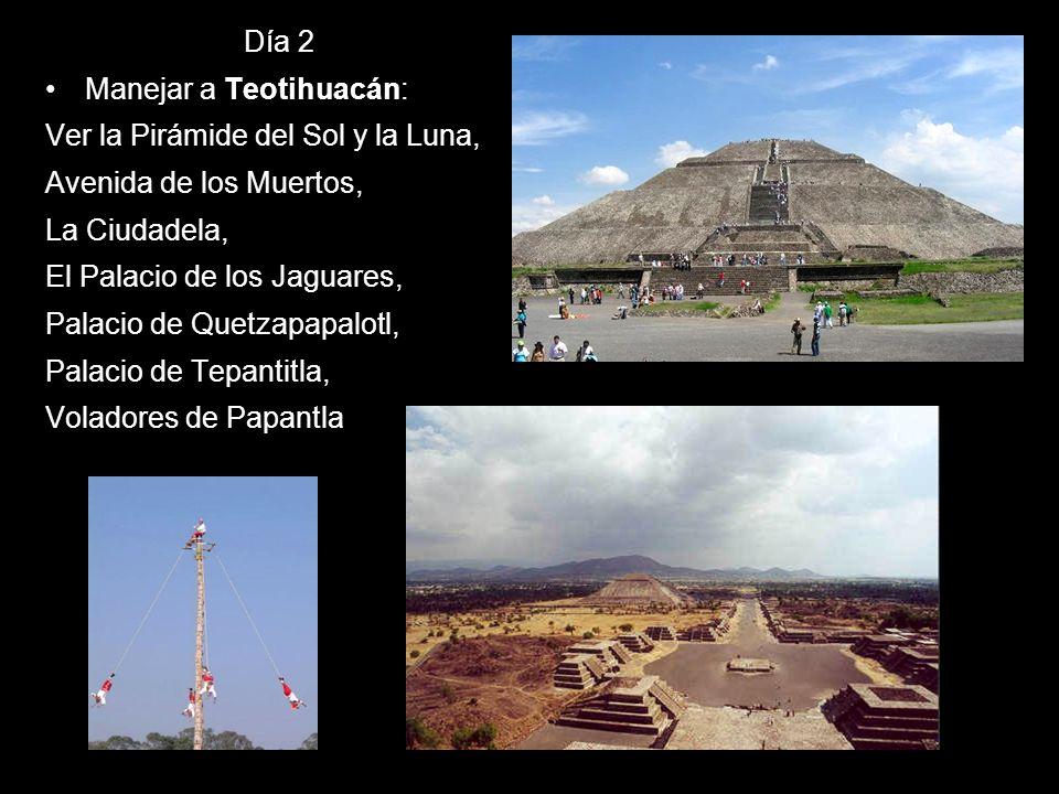Día 2 Manejar a Teotihuacán: Ver la Pirámide del Sol y la Luna, Avenida de los Muertos, La Ciudadela, El Palacio de los Jaguares, Palacio de Quetzapap