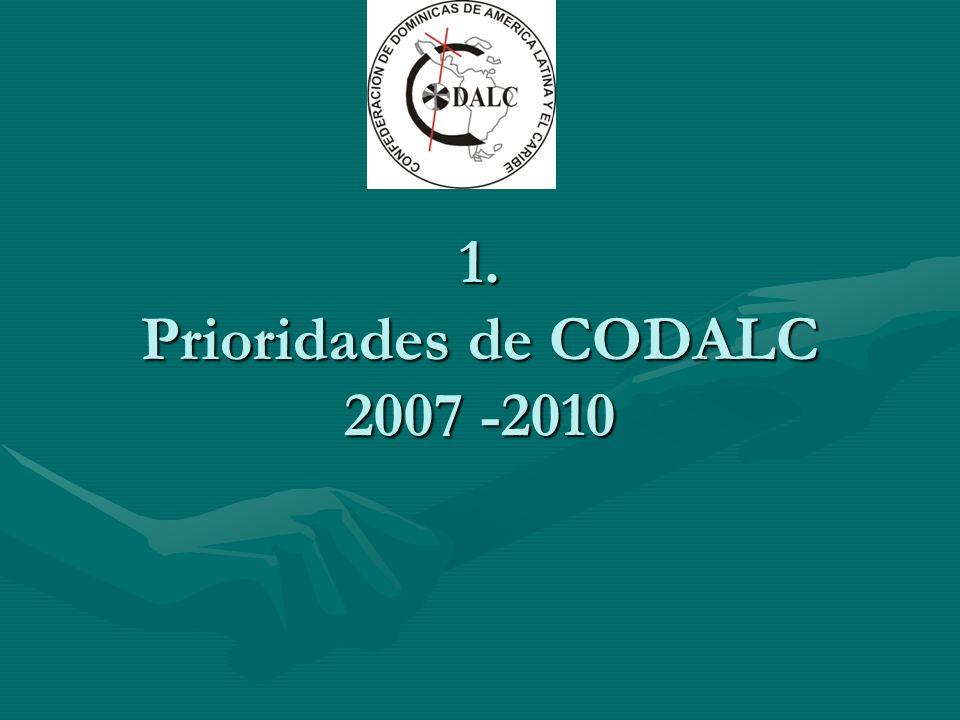 1. Prioridades de CODALC 2007 -2010