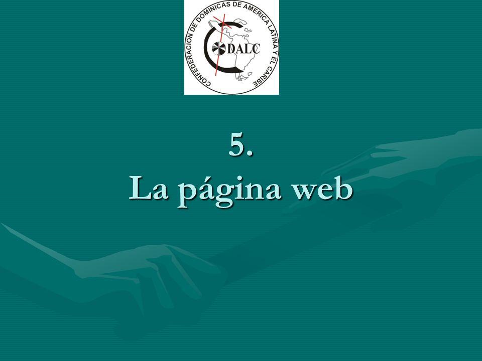 5. La página web