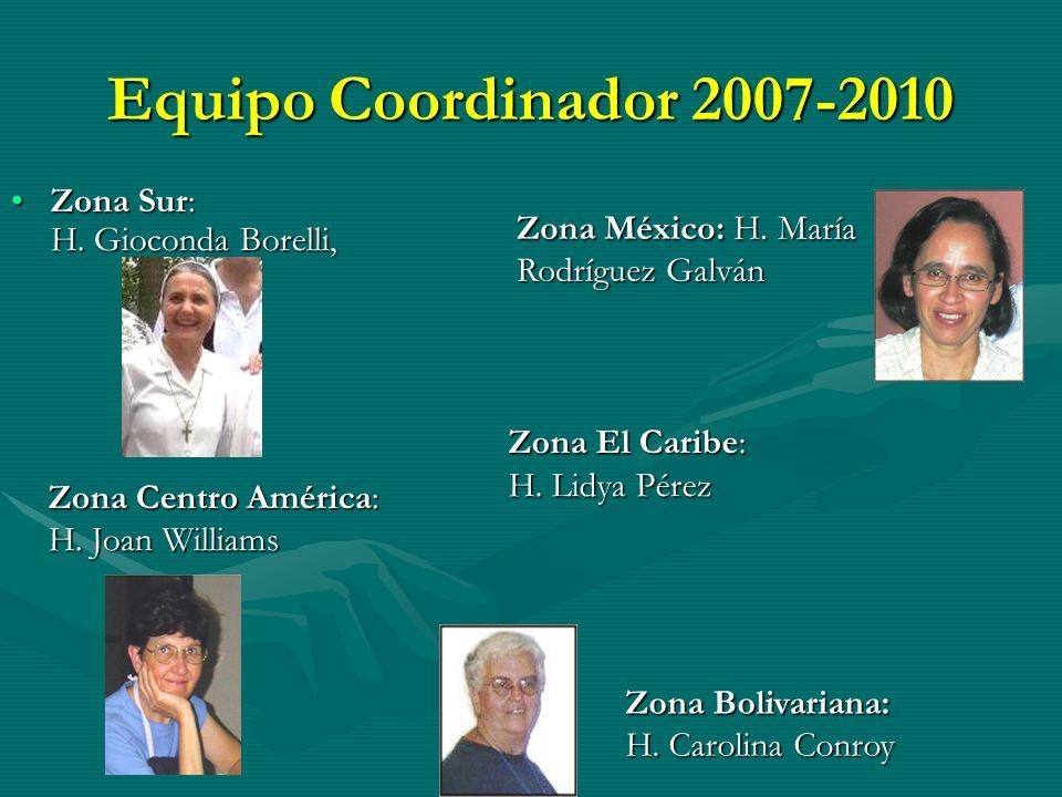 Equipo Coordinador 2007-2010 Zona Sur: H. Gioconda Borelli,Zona Sur: H.