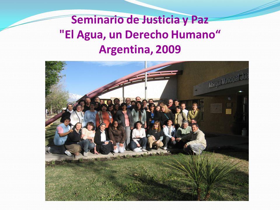 Seminario de Justicia y Paz El Agua, un Derecho Humano Argentina, 2009