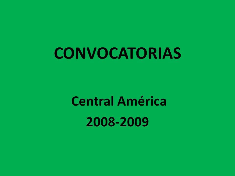 CONVOCATORIAS Central América 2008-2009