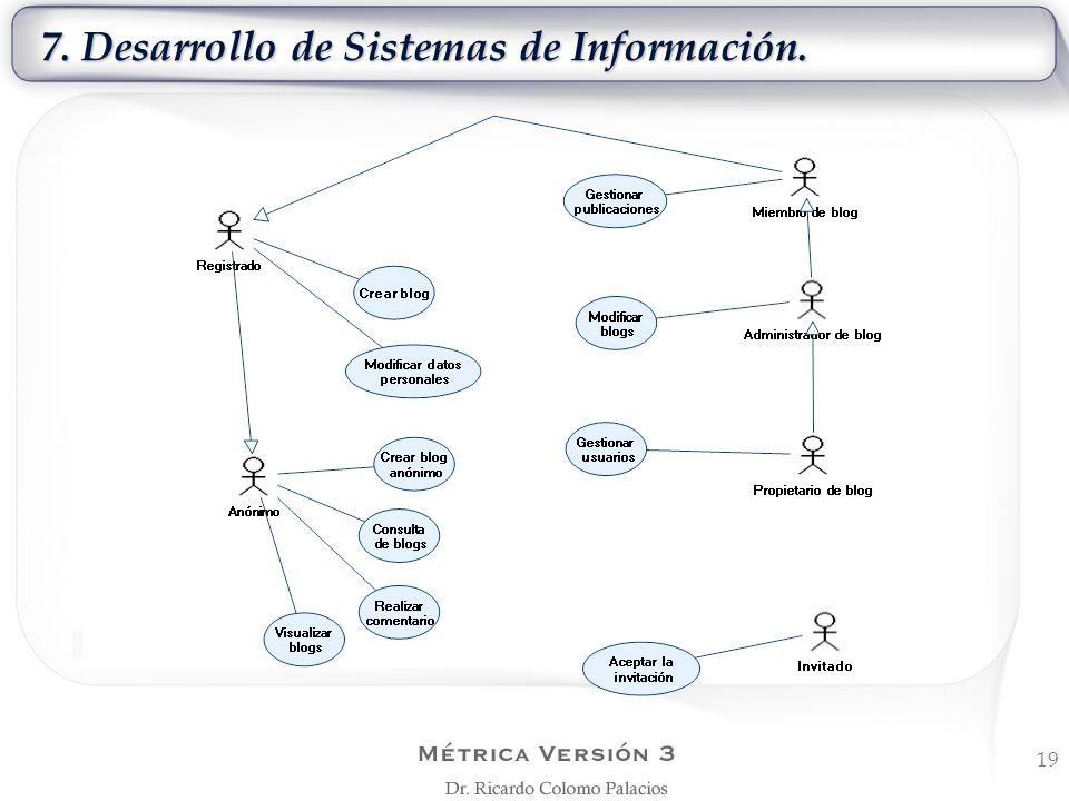 7. Desarrollo de Sistemas de Información. 19