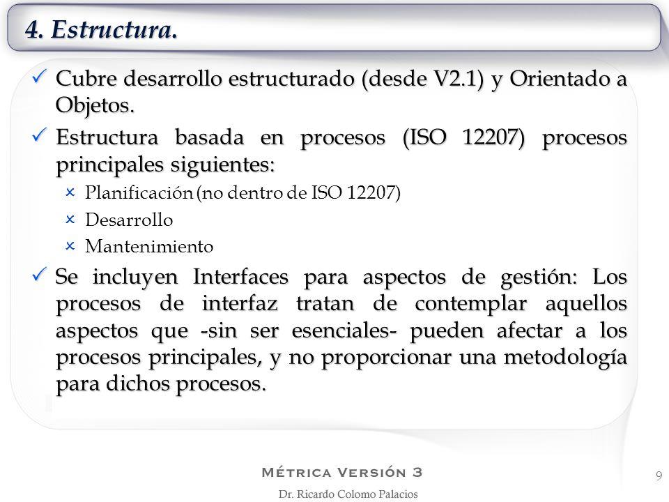4. Estructura. Cubre desarrollo estructurado (desde V2.1) y Orientado a Objetos. Cubre desarrollo estructurado (desde V2.1) y Orientado a Objetos. Est