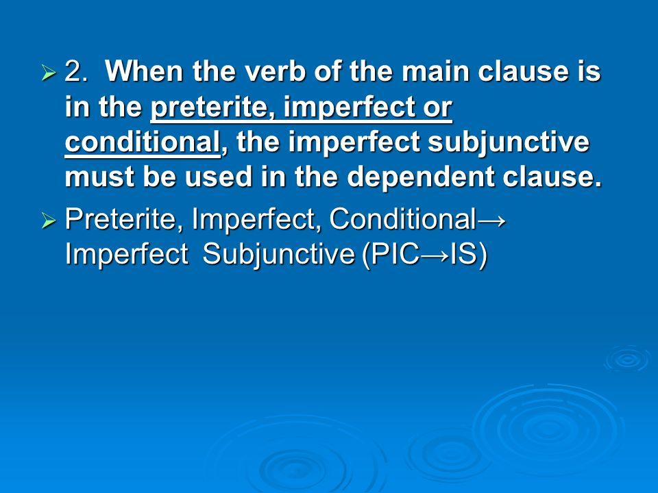 Examples Ex.Main clause in the preterite tense. Ex.