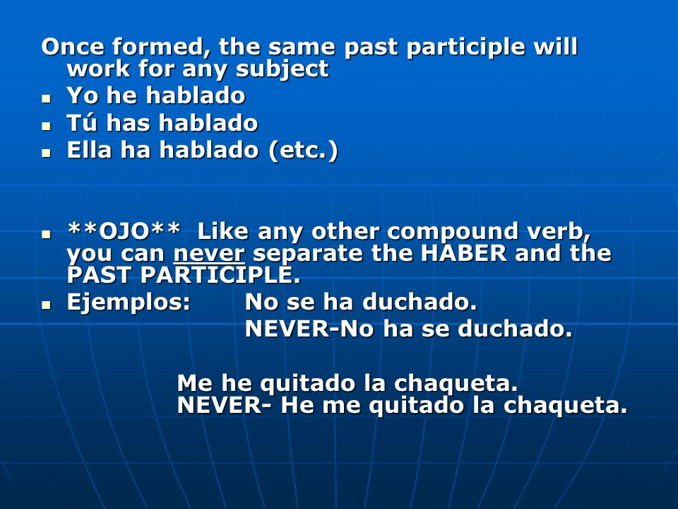 Look at the following sentences using the present and present perfect subjunctive: Look at the following sentences using the present and present perfect subjunctive: Es importante que estudies ahora mismo.