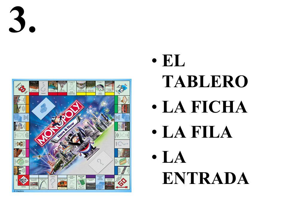 3. EL TABLERO LA FICHA LA FILA LA ENTRADA