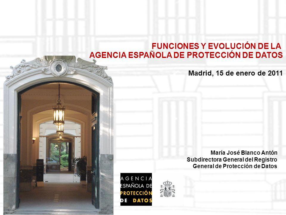22 Madrid, 15 de enero de 2011 Memoria AEPD 2009 Evolución de denuncias en el ámbito de Internet 200720082009 32104158 Principales motivos Difusión de fotografías de terceros sin consentimiento en redes sociales.