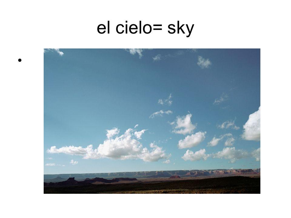 el cielo= sky